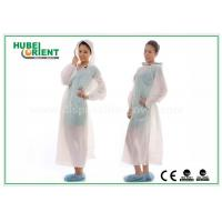 Quality Waterproof Transparent Disposable Exam Gowns Outdoor For Adult , 0.017mm Thickness for sale