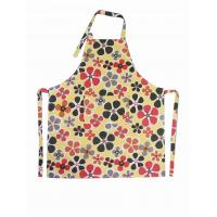 Floral Printed Canvas Personalised Kitchen Aprons Bib Aprons With Pockets