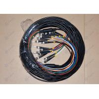 China Black Color ST To ST 8Cores Armored Fiber Patch Cord PE or LSZH on sale