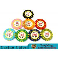 Buy Texas Hold'em / Metal Poker Chips For Casino Gaming With Numbers Casino Chips at wholesale prices
