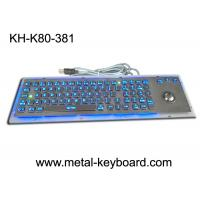 Quality SS Industrial Metal Computer Keyboard With Trackball , Standard USB Or PS2 Output Support for sale