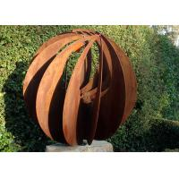 Quality Corten Steel Hollow Outdoor Metal Sphere Sculpture Various Size Available for sale