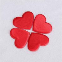Quality Heart Applique Crafts Flat Padded For Valentines Day Gift Decoration for sale