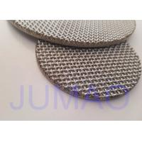 Quality 5 - 7 Layers Steel Mesh Filter Disc , Sintered Metal Disc Excellent Permeability for sale