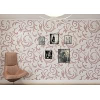 Quality Washable Red Brown Leaf Rustic Floral Wallpaper for Wall Decoration for sale