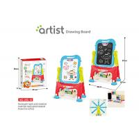 Quality 67 CM Height Unisex Kids Magnetic Drawing Board 12 Chalks Painting Blue for sale