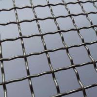 Quality Security Metal Lock Crimp Wire Mesh Woven Galvanized With Square / Rectangular Openings for sale