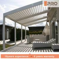 Quality Durable White Aluminum Attached Pergola Wall Mounted Style For Window Of Office for sale