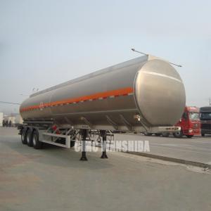 Quality 42000 liters aluminum diesel fuel tanks semi trailer aluminum tanker trailers for sale for sale