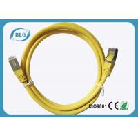 Quality 50μM STP Patch Cord 2% Max Resistance Unbalance With Yellow Color 24AWG for sale