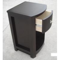 Quality MDF Board Bedroom Furniture Bedside Tables , Side Mounted Tall Night Stand for sale