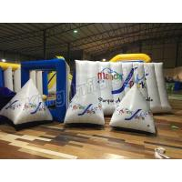 Quality Triangle Airtight  Inflatable Floating Buoys Water PVC Toys With CE Approved Air Pump for sale