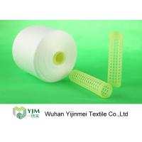 Buy 100% Virgin Polyester Ring Spun Yarn / Dope Dyed Tube Yarn Crease Resistant at wholesale prices