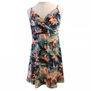 China Summer Halter Sleeveless OEM Backless Floral Maxi Dress on sale