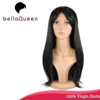 Quality Hand Tied Straight 7A Virgin Human Hair Lace Wigs Hair Natural Color for sale