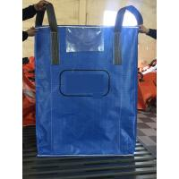 Quality Blue Sift - Proofing  Big Bag FIBC PP Woven Circular Jumbo Bags With Square Bottom for sale