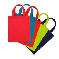 Quality customized color tote bag 100% cotton short handle eco-friendly shopping bag for sale