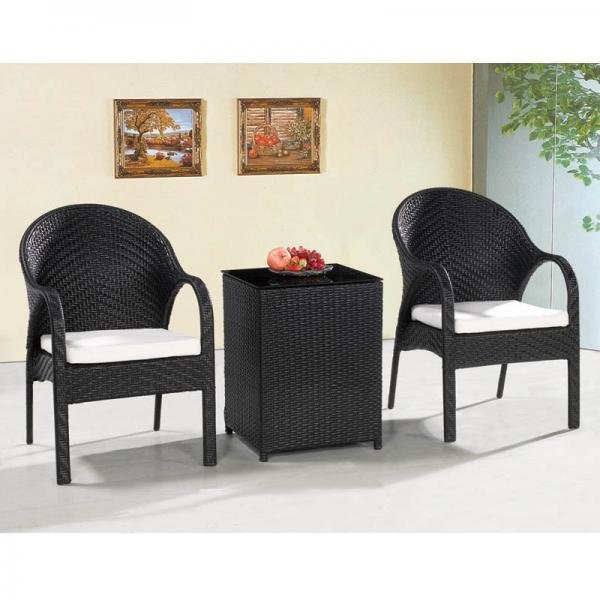 Coffee Table Garden Set: Outdoor Leisure Garden Furniture Coffee Table Chair Set