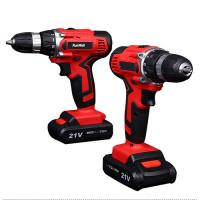 Quality 1500Ah 18V Cordless Drill With 2 Batteries Variable Speed Torque Adjustment for sale