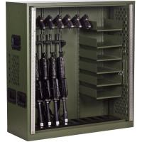 China 10 Gun Cabinet Double Door Heavy Duty Storage Locker , Heavy Duty Metal Storage Cabinet  on sale