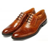 Contemporary Crocodile pattern Classic Dress Shoes Lace Up Oxfords Absorbent Sweat