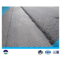 China Warp Knitting Polyester Geogrid 80KNM with High Tensile Strength on sale