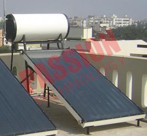 High Powered Flat Plate Solar Water Heater 150 Liter Long Service Life