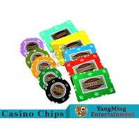 Quality UV Anti - Fake RFID Casino Chips Customized Multi - Color With Number Stickers for sale
