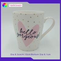 China Gold Decal White Custom Made Ceramic Mugs Eco - Friendly Promotional Ceramic Cups on sale