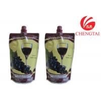 Quality Food Grade Self Standing Spouted Plastic Pouches For Liquids Wine for sale