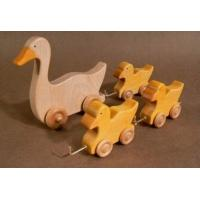 Quality Kids Educational Wooden Toys Cute Toddlers Duck 150 X 140 X 12 mm for sale