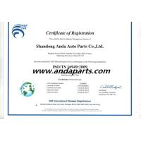 SHANDONG ANDA AUTO PARTS CO.,LIMITED Certifications