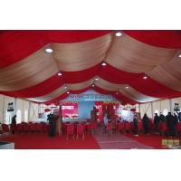 Quality White color  aluminium frame 500 People  Tent with roof  linings and curtains for outside wedding party for sale
