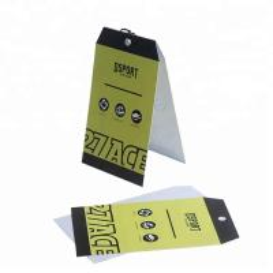 China Printable Logo Custom Printed Paper Tags / Kraft Hang Tags With Eyelets on sale