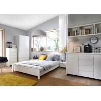 Quality Modern High Glossy White Bedroom Furniture Sets , 5 Drawer Chest for sale
