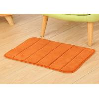 China Embossing stripe design 100% polyester  memory foam   area rugs for sale