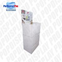 Quality Eco Friendly Cardboard Floor Displays CMYK Print 2 Stackable Trays For Mops for sale