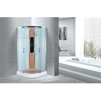 Quality Comfort Waterproof Curved Corner Shower Enclosure Kits Free Standing Type for sale