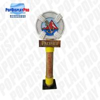 Quality Large Pole Visual Personalized Shelf Display Stand Life Post Full Color Printed With Metal Base for Pacifico Draft Beer for sale