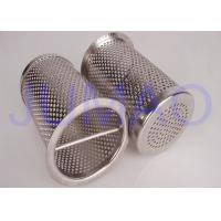 Quality Industrial 316 SS Basket Filter Elements / Sintered Wire Mesh Filter Baskets for sale