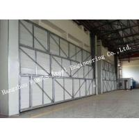 Quality Manual Folded Push Pull Overhead Industrial Garage Doors Track And Hardware Of Aircraft Hanger for sale