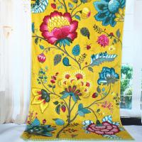 Quality Satin Border Large Promotional Beach Towels Yellow Flower Color 100 X 105 Cm for sale