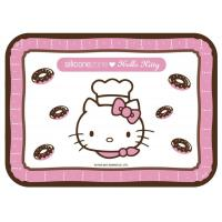 """Hello Kitty Collection 11""""x9"""" Non-Stick Silicone Junior Baking Mat, Pink"""