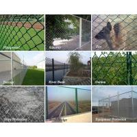 Diamond wire mesh ft black vinyl coated galvanized chain