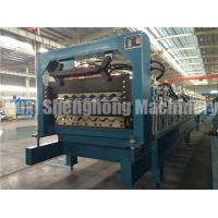Quality Galvanized Roofing Sheet Double Deck Roll Forming Machine 16mm for sale