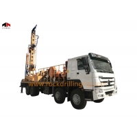 China 800m 8 x 4 Truck Deep Water Well Drilling Rig Hydraulic Air DTH and Mud Rotary Drilling Rig on sale
