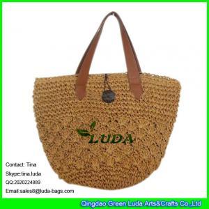 China LUDA design straw women bag crochet bag western straw market bag on sale