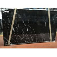 Quality selected popular black marble nero marquina marble slab 20mm thick for sale