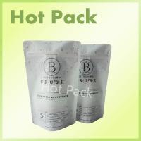 Quality 600g Matte Charcoal Garden Detox Zipper Laminated Ziplock Stand Up Pouches for sale