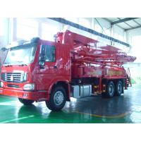 Quality 125M3 / H 21m Concrete Pump Truck With With Big Bearing Capacity And Small Swing for sale